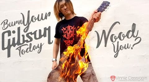 I set my guitar on fire