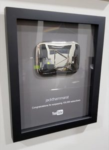 Jack Thammarat Youtube Silver Play Button