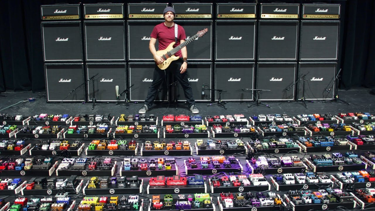 Rob Scallon World's Largest Pedalboard