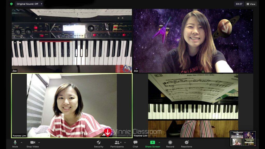 zoom piano lesson